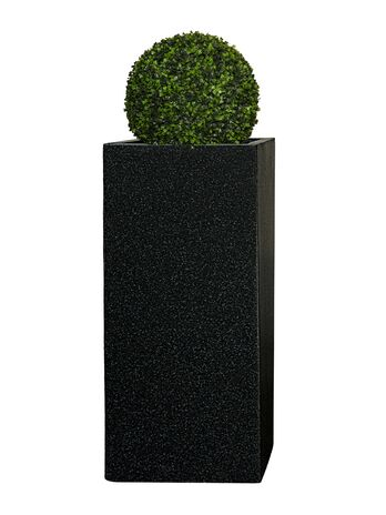 Pflanzkübel TOWER - (Granit Anthra) - 70cm x 33cm x 33cm