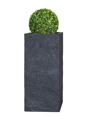 Pflanzkübel TOWER - (Lava Anthrazit) - 70cm x 33cm x 33cm