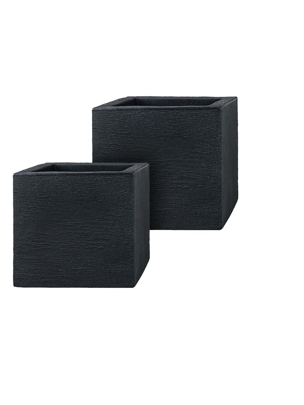 kunststoff pflanzk bel 2er set cubes. Black Bedroom Furniture Sets. Home Design Ideas