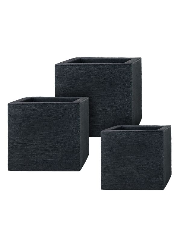 pflanzk bel aus kunststoff im 3er set cubes. Black Bedroom Furniture Sets. Home Design Ideas