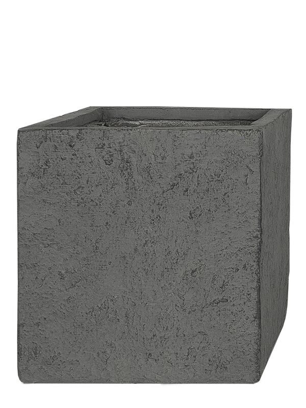 xxl cube fiberglas blumenk bel lava grau in 53x65x65cm. Black Bedroom Furniture Sets. Home Design Ideas
