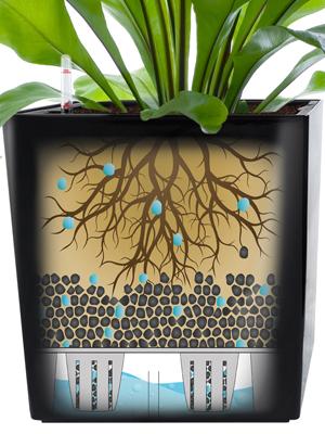 Intelligentes Bewässerungssystem für Blumenkübel